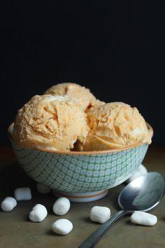 Sweet Potato Ice Cream with Toasted Marshmallows | Grandbaby Cakes