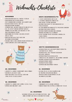 Our Christmas checklist guarantees a stress-free Advent season - Well organized is half won! Our Christmas checklist prevents Christmas stress - Christmas Tress, Pre Christmas, Xmas, Christmas Checklist, Christmas Printables, Advent Season, Winter Wonder, Christmas Aesthetic, Diy Weihnachten