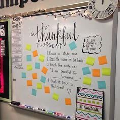 Who are YOU thankful for? #thankfulthursday #miss5thswhiteboard #iteachtoo #iteachfifth #teachersofinstagram #teachersfollowteachers