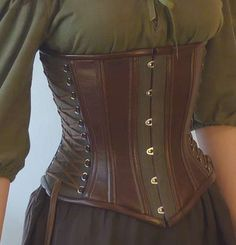 Incredible hemp and faux leather corset, made by a man for his wife.  Beautiful.