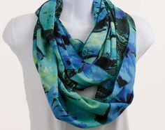 Wide Infinity Scarf  Bold Abstract & Floral Design by neckStyles, $27.00
