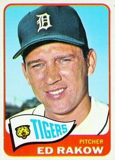 Ed Rakow 1965 Pitcher - Detroit Tigers  Card Number: 454