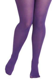 Rudimentary My Dear Tights in Purple - Plus Size. Its quite simple to answer the question of what to wear with your favorite statement-making outfits! #purple #modcloth