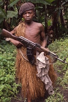 A child soldier in the Democratic Republic of Congo. British-manufactured arms could be sold there.
