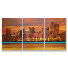 Skyscraper triptych. Classy.
