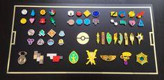 Pokemon Badges Elite Four Collection: Kanto Johto by blazerdesigns