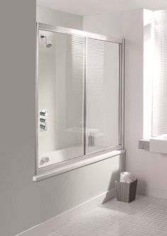 SUPREME Overbath Slider in Bath Screens   Simpsons - Shower Enclosure Products