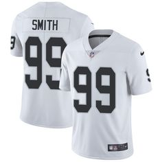 Nike Raiders #99 Aldon Smith White Men's Stitched NFL Vapor Untouchable Limited Jersey