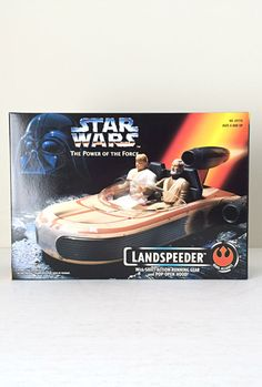 Vintage Star Wars Landspeeder Vehicle - 1995 Power of the Force Kenner / Vintage Star Wars Toy from A New Hope - In Original Unopened Box.