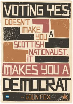 "Colin Fox of the Scottish Socialist Party says, ""Grotesque inequality and poverty are a daily reality that worsens with the vulnerable and weak left by the side of the road to fend for themselves. Those are not our values.""  http://yesscotland.net/news/perspective-colin-fox-socialist-case-yes"