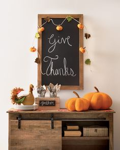 Dress up your dining space with all the best fall decor. Felt Pumpkin Garland, Wool Felt Turkey and Orange Wool Felt Pumpkins take a simple dining room setting and bring it to life with the look and feel of fall.