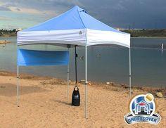 8 x 8 Undercover Canopy UC-3 Sport-Packer COMMERCIAL ANODIZED ALUMINUM EZ Pop Up Tent - HutShop.com