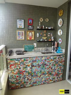 blog de decoração - Arquitrecos: Minha cortina de pia feita com tecidos da linha ID Karsten Decor. Passo a passo!!