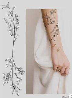 Vine Tattoos, Dainty Tattoos, Arm Tattoos, Pretty Tattoos, Beautiful Tattoos, Body Art Tattoos, Sleeve Tattoos, Delicate Feminine Tattoos, Delicate Tattoos For Women