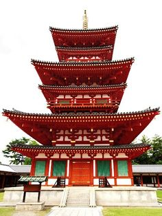 Nara Japan 奈良県 薬師寺 西塔