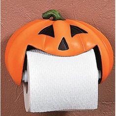 Pumpkin Jack-o-Lantern Halloween Seasonal Toilet Paper Holder Halloween Bathroom, Halloween Home Decor, Halloween House, Fall Halloween, Halloween Crafts, Happy Halloween, Halloween Party, Halloween Decorations, Halloween Ideas