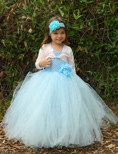 Light Blue Tutu Dress  Girl Dress Special by FunkidsandUsBoutique