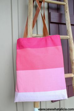 This tutorial for how to make a tote bag is great for beginners. This will walk you through creating the bag in 15 minutes. It has a lining and faux leather handles. This is perfect for beginners and those just starting to sew.