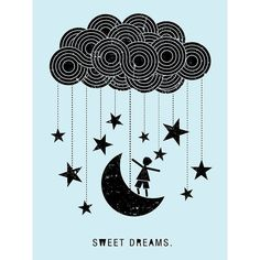 Oopsy Daisy Boy Sweet Dreams Cloud Stretched Canvas Wall Art
