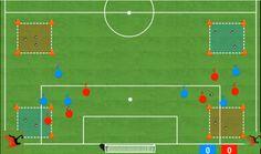Ejercicio de futbol para mejorar la Resistencia Drill, Soccer, Soccer Drills, Football Soccer, Hole Punch, Futbol, Drills, European Football, Drill Press