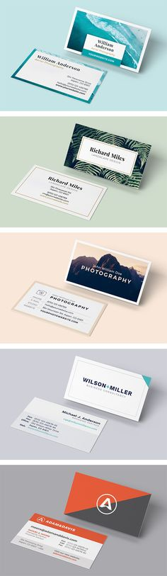 Watercolor leaves business card template for adobe indesign with watercolor leaves business card template for adobe indesign with watercolor artwork by photomarket on creativemarket business cards pinterest colourmoves