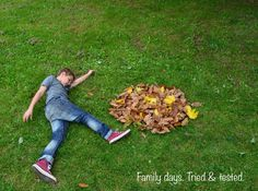 Great ideas for making leaf art and getting some fabulously FUN photos Autumn Activities, Art Activities, Autumn Art, Autumn Leaves, Forest Art, Nature Crafts, Outdoor Art, Baby Crafts, Nursery Art