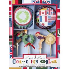 Amazon.com: Meri Meri Going For Gold Olympics Cupcake Kit: Kitchen & Dining