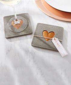 Another great find on #zulily! Copper Heart Concrete Coaster - Set of 12 #zulilyfinds