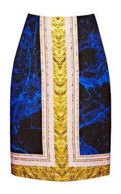 Shop Blue And Blush Clean I Pencil Skirt by Josh Goot - Moda Operandi