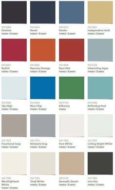 sherwin williams fall winter 2015 color palette for pottery barn