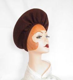 057251ba06d 1940s hat brown platter pancake hat vintage by TheVintageHatShop 1940s Hats
