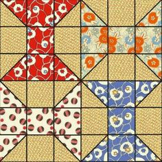 Spool quilt block or bow ties Tie Quilt, Patch Quilt, Half Square Triangle Quilts, Square Quilt, Small Quilts, Mini Quilts, Quilting Projects, Quilting Designs, Spool Quilt