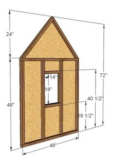 Build a Simple Playhouse - Gable End Walls Simple Playhouse, Kids Playhouse Plans, Kids Indoor Playhouse, Outside Playhouse, Playhouse Kits, Build A Playhouse, Wooden Playhouse, Backyard Playhouse, Indoor Playground