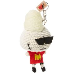 Mua Mua Dolls Women's Jeremy Keychain (£36) ❤ liked on Polyvore featuring accessories, multi, ring key chain, keychain key ring, key chain rings and fob key chain