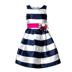 826a1021dedb Mimilú - Abito Righe Blu Navy Elegante e frizzante abito righe blu navy in  tessuto di · Vestiti Per BarbieBambineMariage