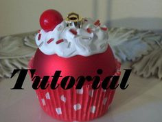 *PDF TUTORIAL INSTANT DOWNLOAD* - actual ornament not included.  This PDF tutorial includes step by step instructions with photos. Feel free to contact me with any questions. The tutorial is available for instant download once payment has been received. This listing is for a PDF file containing instructions for making a cupcake ornament, not the actual ornament. Purchase of this tutorial grants the purchaser the rights to make and sell the ornaments. This pattern may not be sold, reproduced…