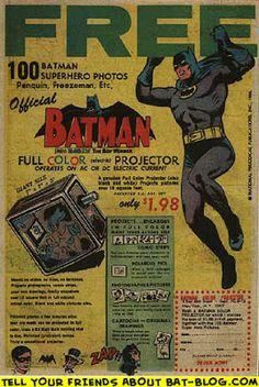 BAT - BLOG : BATMAN TOYS and COLLECTIBLES: VINTAGE BATMAN TOY COMIC BOOK AD : Picture Projector