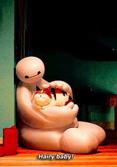 Tap image for more Disney Animated GIF! Hairy baby. Big Hero 6 Baymax - @mobile9