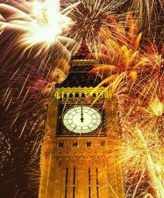 Fireworks over Big Ben...I got to see this in person for New Years 2000! Gorgeous! :)