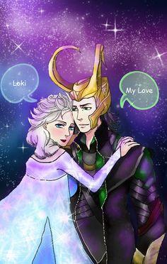 Elsa X Loki by Rayalyna on deviantART