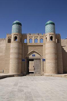 Entrance to Kuhna Ark . Khiva, Uzbekistan