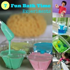 """Play and Learn: 7 Bath Time """"Experiments"""". Or just some water science experiments :)"""