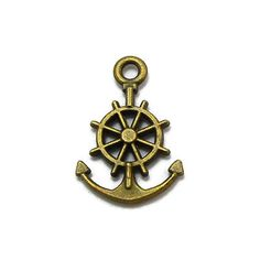 10 Anchor Charms bronze tone metal by OliviaMadisonCompany on Etsy (Craft Supplies & Tools, Jewelry & Beading Supplies, Charms, craft supplies, charm, metal charms, charm bracelet, findings, anchor charm, boat charm, nautical charm, boating charm, ocean charm, captains wheel charm, ship wheel charm, boat wheel charm)