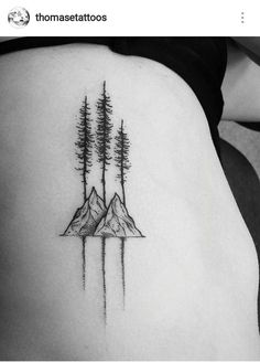rei lets camp sticker simple wave, tree and mountain tattoo Little Tattoos, Love Tattoos, Beautiful Tattoos, New Tattoos, Body Art Tattoos, Small Tattoos, Tattoos For Women, Tatoos, Sibling Tattoos