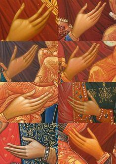 Byzantine Icons, Byzantine Art, Religious Icons, Religious Art, Writing Icon, Greek Icons, Stages Of Writing, Paint Icon, Holy Mary