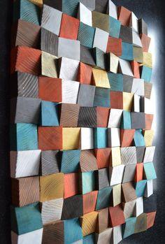 geometric wood art wood art wall art abstract painting on wood wall installation wood pattern wood mosaic wooden wall panels, wood sculpture geometric art installations Wooden Wall Panels, Wood Panel Walls, Wooden Walls, Wood Paneling, Wall Wood, 3d Wall Panels, Wooden Wall Art, Scrap Wood Art, Reclaimed Wood Art