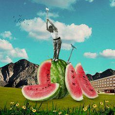 a melon a day by Sammy Slabbinck, 2014