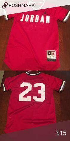 ad3afed23a0 Air Jordan Jersey type shirt Black   Red Air Jordan Jersey type shirt Jordan  Shirts   Tops Tees - Short Sleeve