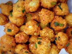 The most famous Mauritian street food, this round, crispy, golden brown fritter is made by deep frying yellow split pea paste mixed with spices and herbs Pea Recipes, Waffle Recipes, Curry Recipes, Vegetarian Recipes, Cooking Recipes, Healthy Recipes, Vegan Meals, Yellow Split Pea Recipe, Peas Recipe Indian