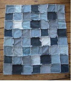I haven't made a denim rag quilt yet. I am starting to save old jeans and looking forward to making one of these. Pretty!